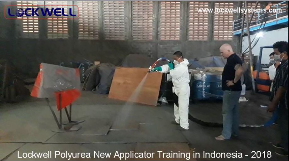 Lockwell Polyurea Application Training to New Applicator in